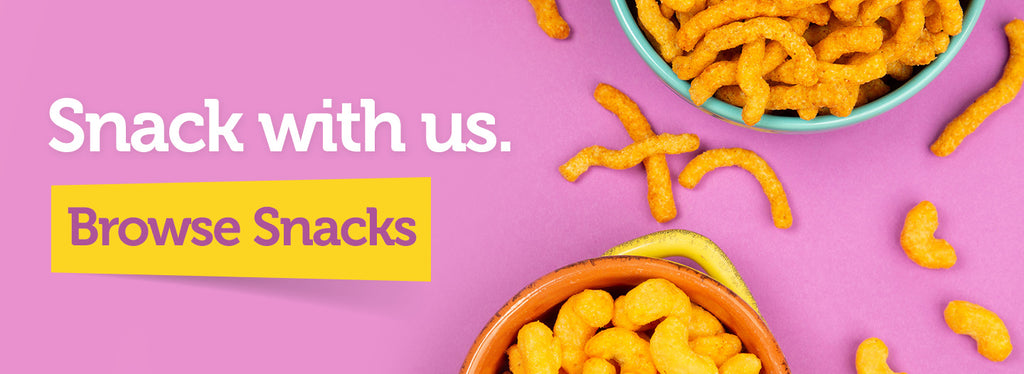 snack with us. browse snacks