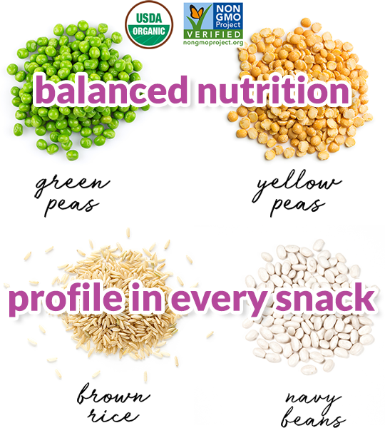 balanced nutrition profile in every snack