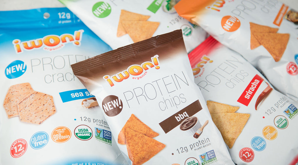 i won! organics protein snacks