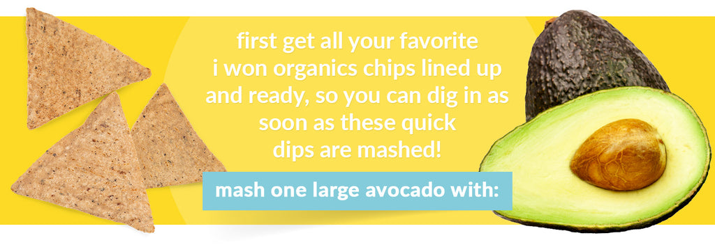 mash one large avocado with
