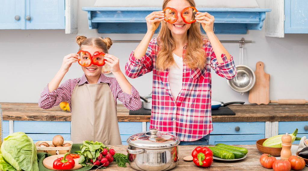 if you are a family person, be sure to include them on your healthy food journey.