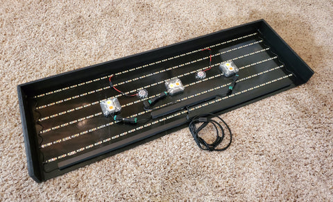 "34"" x 12"" with triple 10w diodes"