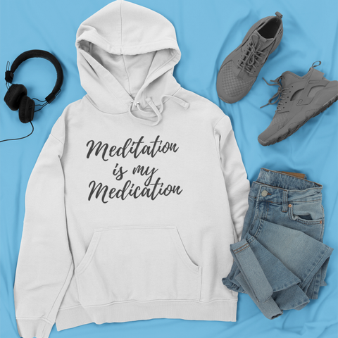 Sweatshirt - MEDITATION Hooded Sweatshirt (Unisex+Colors)