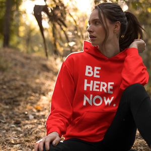 BE HERE Hooded Sweatshirt (Unisex+Colors)