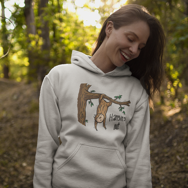 Hanging Out - Sloth - Unisex hoodie - Sloth and Sloth [Product_type], Sloth and Sloth, Baby sloth, slothandsloth