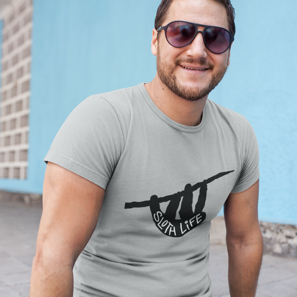 Sloth Life Shirt - Short Sleeve Men's/Unisex T-Shirt - Black Silouette - Sloth and Sloth [Product_type], Sloth and Sloth, Baby sloth, slothandsloth