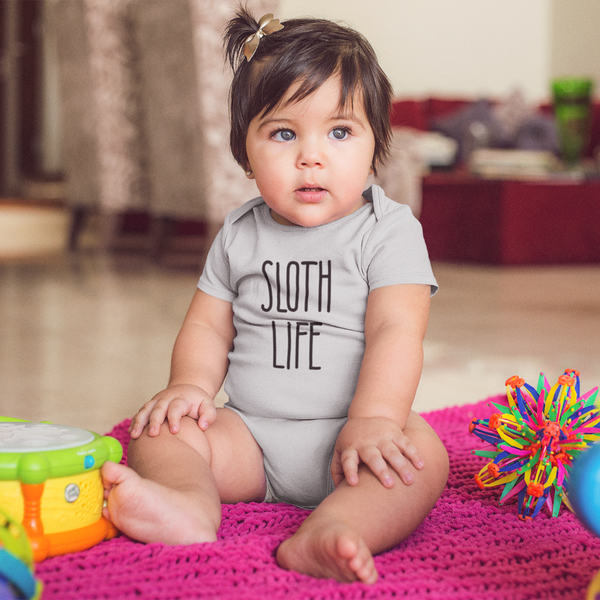 """Sloth Life"" - Baby Bodysuit Infant Clothing - Sloth and Sloth [Product_type], Sloth and Sloth, Baby sloth, slothandsloth"