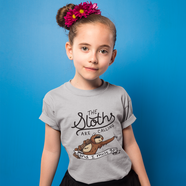 The Sloth's Are Calling And I Must Go - Youth Short Sleeve T-Shirt - Sloth and Sloth [Product_type], Sloth and Sloth, Baby sloth, slothandsloth