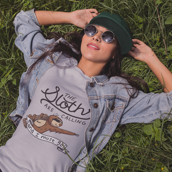 The Sloth's Are Calling And I Must Go - Women's short sleeve t-shirt - Sloth and Sloth [Product_type], Sloth and Sloth, Baby sloth, slothandsloth