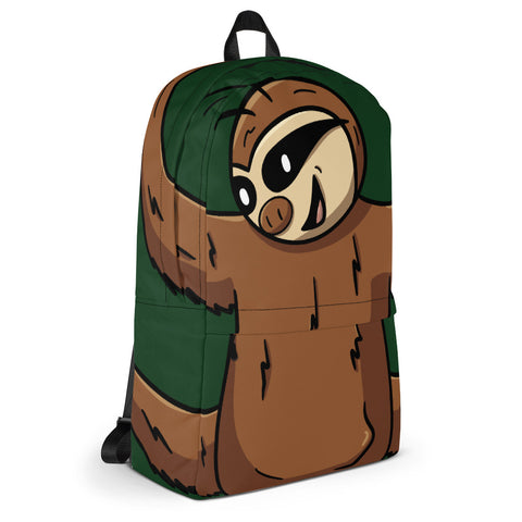 Hanging Sloth Green Backpack Tech Bag - Samuel Sloth - Sloth and Sloth [Product_type], Sloth and Sloth, Baby sloth, slothandsloth