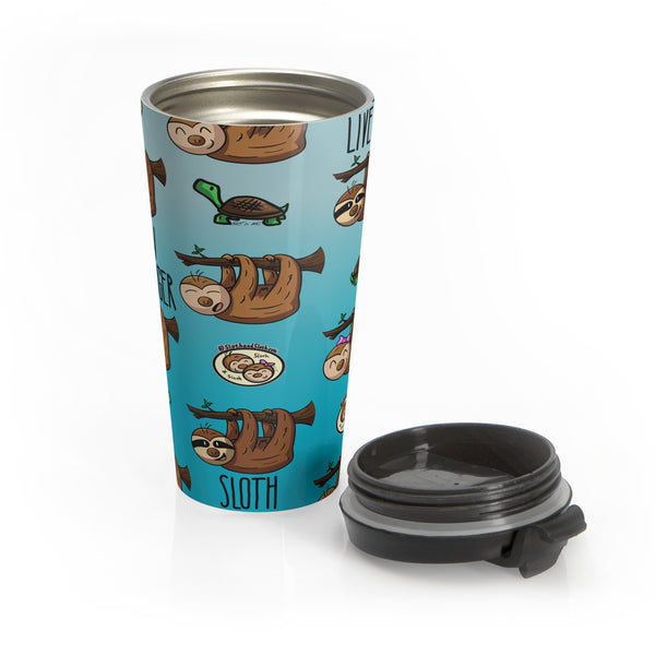 Sloth Pattern - Stainless Steel Travel Mug - Sloth and Sloth [Product_type], Sloth and Sloth, Baby sloth, slothandsloth