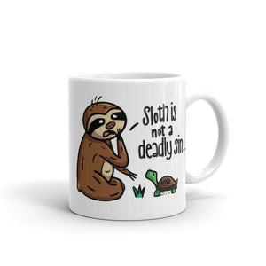 Sloth is Not a Deadly Sin - Coffee Cup - Sloth and Sloth [Product_type], Sloth and Sloth, Baby sloth, slothandsloth