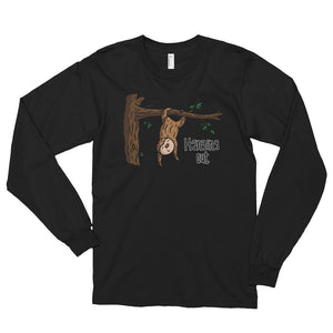 Hanging Out - Sloth - Long sleeve t-shirt (unisex) - Sloth and Sloth [Product_type], Sloth and Sloth, Baby sloth, slothandsloth