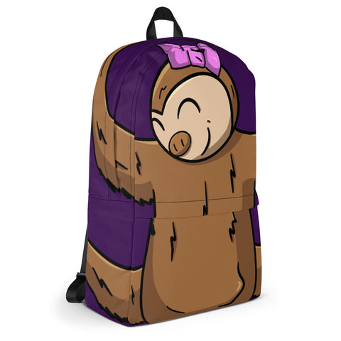Hanging Sloth Purple Backpack Tech Bag - Sophie Sloth - Sloth and Sloth [Product_type], Sloth and Sloth, Baby sloth, slothandsloth