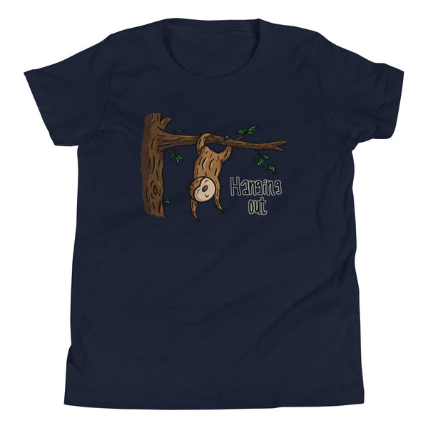Hanging Out - Sloth - Youth Short Sleeve T-Shirt - Sloth and Sloth [Product_type], Sloth and Sloth, Baby sloth, slothandsloth