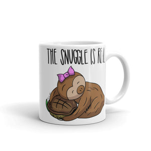 The Snuggle is Real - Coffee Cup - Sloth and Sloth [Product_type], Sloth and Sloth, Baby sloth, slothandsloth