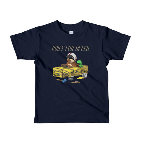 Built for Speed - Racing Sloth - Short sleeve kids t-shirt - Sloth and Sloth [Product_type], Sloth and Sloth, Baby sloth, slothandsloth