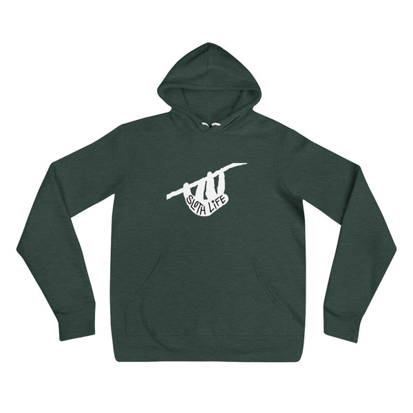 """Sloth Life"" White Silhouette - Unisex hoodie - Sloth and Sloth [Product_type], Sloth and Sloth, Baby sloth, slothandsloth"