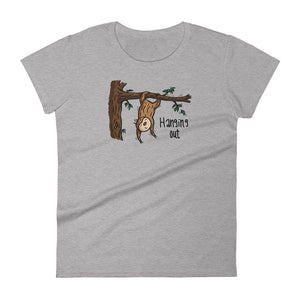 Hanging Out - Short-Sleeve Women's T-Shirt - Sloth and Sloth [Product_type], Sloth and Sloth, Baby sloth, slothandsloth
