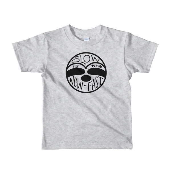 Slow is the New Fast - Sloth Face - Short sleeve kids t-shirt - Sloth and Sloth [Product_type], Sloth and Sloth, Baby sloth, slothandsloth