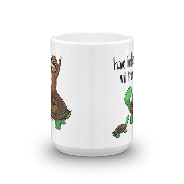Have Tortoise Will Travel - Coffee Cup - Sloth and Sloth [Product_type], Sloth and Sloth, Baby sloth, slothandsloth