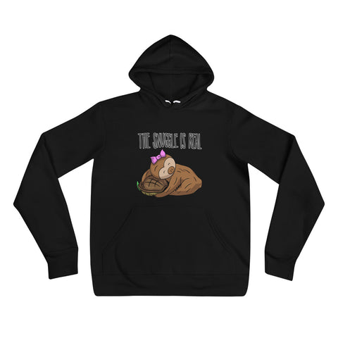 The Snuggle is Real - Sloth and Turtle - Unisex hoodie - Sloth and Sloth [Product_type], Sloth and Sloth, Baby sloth, slothandsloth