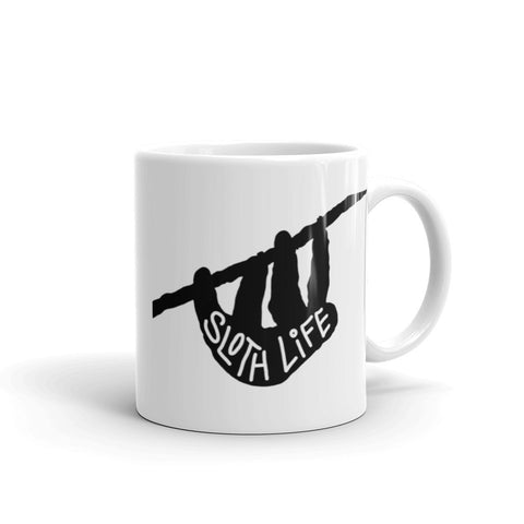"""Sloth Life"" Coffee Mug - Hanging Sloth Coffee Cup - Sloth and Sloth [Product_type], Sloth and Sloth, Baby sloth, slothandsloth"