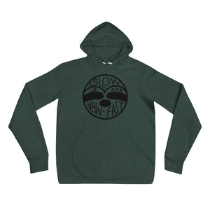 Slow is the New Fast - Sloth Face - Unisex hoodie - Sloth and Sloth [Product_type], Sloth and Sloth, Baby sloth, slothandsloth