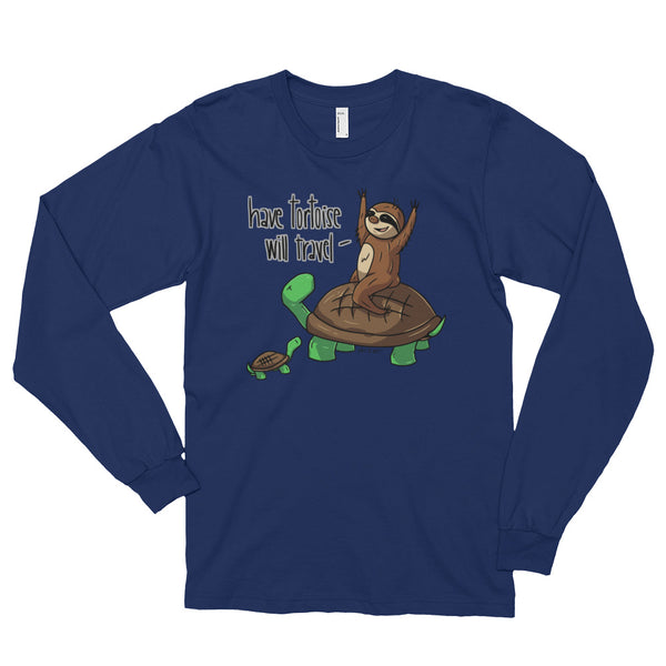 Have Tortoise Will Travel - Sloth and Turtle - Long sleeve t-shirt (unisex) - Sloth and Sloth [Product_type], Sloth and Sloth, Baby sloth, slothandsloth