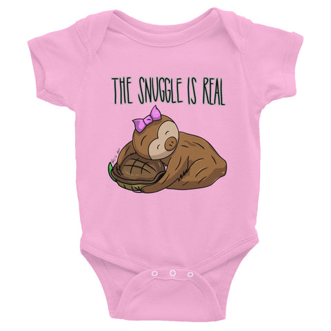 The Snuggle is Real - Sloth and Turtle - Baby Bodysuit Infant Clothing - Sloth and Sloth [Product_type], Sloth and Sloth, Baby sloth, slothandsloth