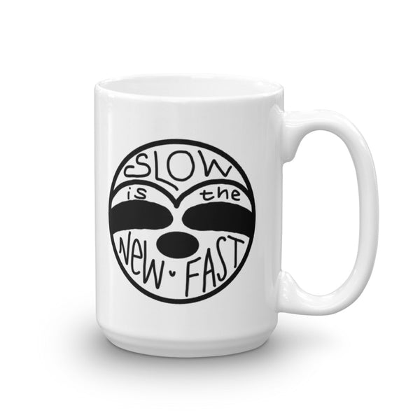 Slow is the New Fast - Sloth Face - Coffee Cup - Sloth and Sloth [Product_type], Sloth and Sloth, Baby sloth, slothandsloth