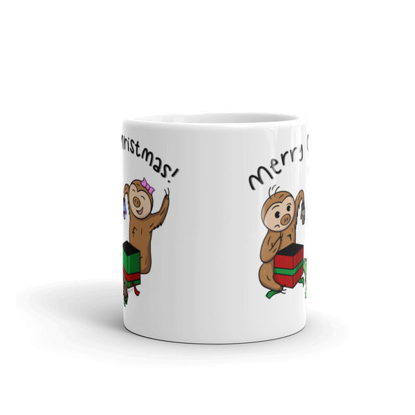 Merry Christmas - Coffee Cup - Sloth and Sloth [Product_type], Sloth and Sloth, Baby sloth, slothandsloth