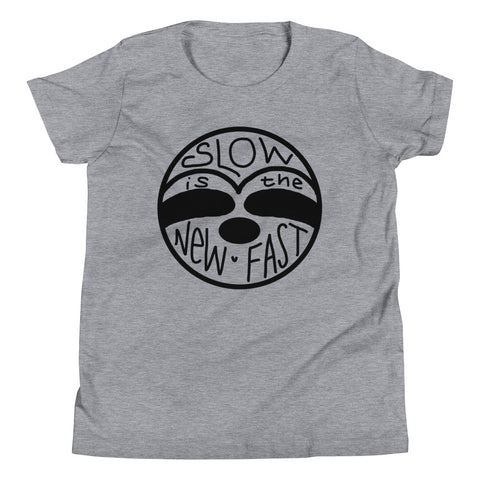 Slow is the New Fast - Sloth Face - Youth Short Sleeve T-Shirt - Sloth and Sloth [Product_type], Sloth and Sloth, Baby sloth, slothandsloth