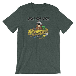 Built for Speed - Racing Sloth - Short-Sleeve Men's/Unisex T-Shirt - Sloth and Sloth [Product_type], Sloth and Sloth, Baby sloth, slothandsloth