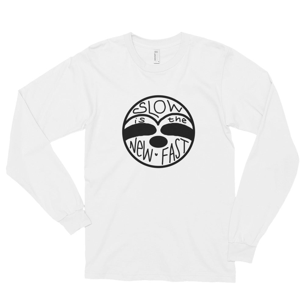 Slow is the New Fast - Sloth Face - Long sleeve t-shirt (unisex) - Sloth and Sloth [Product_type], Sloth and Sloth, Baby sloth, slothandsloth