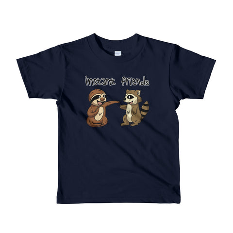 Instant Friends - Sloth and Raccoon - Short sleeve kids t-shirt - Sloth and Sloth [Product_type], Sloth and Sloth, Baby sloth, slothandsloth