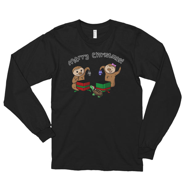 Christmas Gifts - Two Toed Sloth and Turtle - Long sleeve t-shirt (unisex) - Sloth and Sloth [Product_type], Sloth and Sloth, Baby sloth, slothandsloth