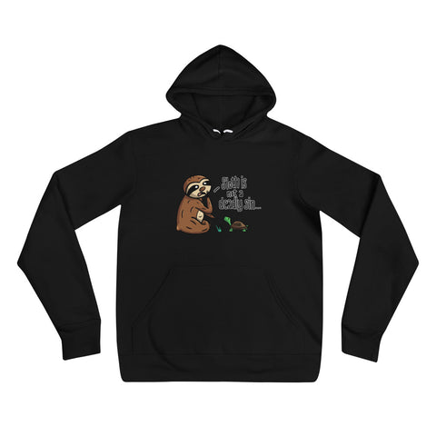 Sloth is not a Deadly Sin - Unisex hoodie - Sloth and Sloth [Product_type], Sloth and Sloth, Baby sloth, slothandsloth