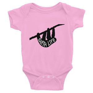 """Sloth Life"" Black Silhouette - Baby Bodysuit Infant Clothing - Sloth and Sloth [Product_type], Sloth and Sloth, Baby sloth, slothandsloth"