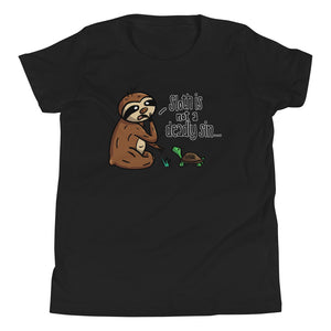 Sloth is not a Deadly Sin - Youth Short Sleeve T-Shirt - Sloth and Sloth [Product_type], Sloth and Sloth, Baby sloth, slothandsloth