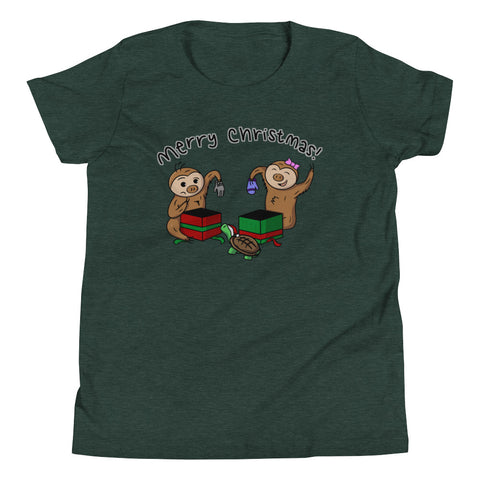 Christmas Gifts - Two Toed Sloth and Turtle - Youth Short Sleeve T-Shirt - Sloth and Sloth [Product_type], Sloth and Sloth, Baby sloth, slothandsloth