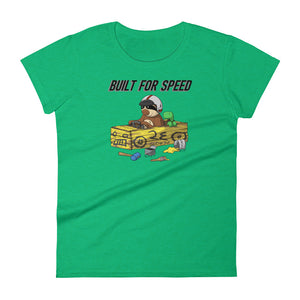 Built for Speed - Racing Sloth - Short-Sleeve Women's T-Shirt - Sloth and Sloth [Product_type], Sloth and Sloth, Baby sloth, slothandsloth