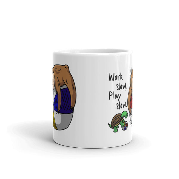 Work Slow, Play Slow - Coffee Cup - Sloth and Sloth [Product_type], Sloth and Sloth, Baby sloth, slothandsloth