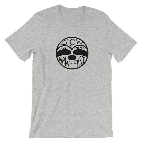 Slow is the New Fast - Sloth Face - Short-Sleeve Men's/Unisex T-Shirt - Sloth and Sloth [Product_type], Sloth and Sloth, Baby sloth, slothandsloth