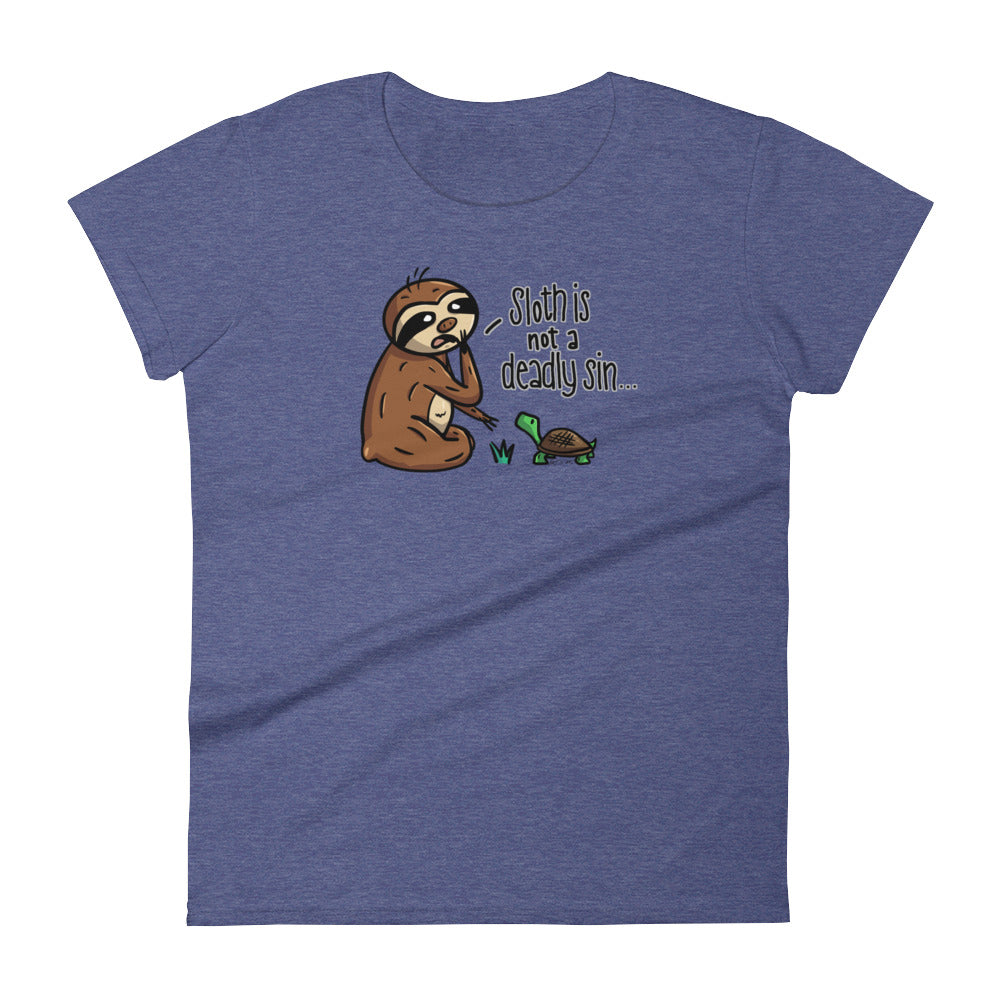 Sloth is Not a Deadly Sin - Short-Sleeve Women's T-Shirt - Sloth and Sloth [Product_type], Sloth and Sloth, Baby sloth, slothandsloth
