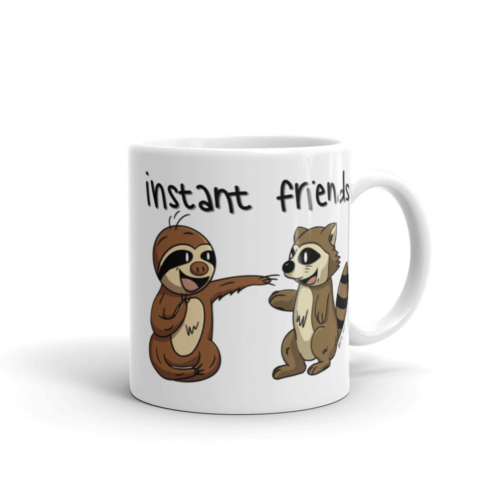 Instant Friends - Sloth and Raccoon - Coffee Cup - Sloth and Sloth [Product_type], Sloth and Sloth, Baby sloth, slothandsloth