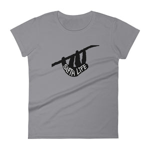 Sloth Life Shirt - Short Sleeve Women's T-Shirt - Black Silhouette - Sloth and Sloth [Product_type], Sloth and Sloth, Baby sloth, slothandsloth