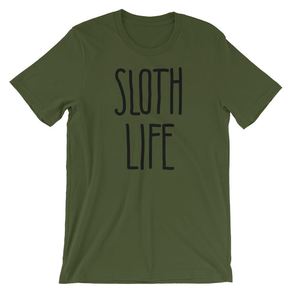 Sloth Life Shirt –Short Sleeve Men's/Unisex T-Shirt - Sloth and Sloth [Product_type], Sloth and Sloth, Baby sloth, slothandsloth