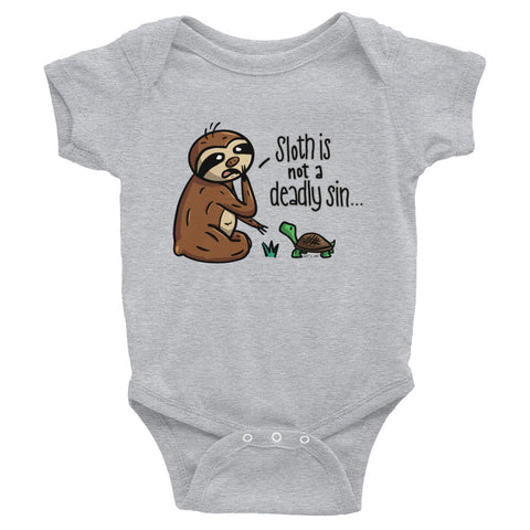 Sloth is not a Deadly Sin - Baby Bodysuit Infant Clothing - Sloth and Sloth [Product_type], Sloth and Sloth, Baby sloth, slothandsloth