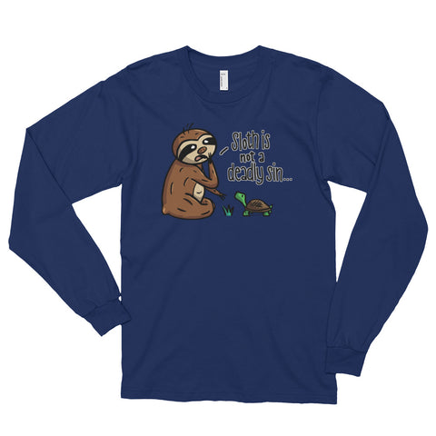 Sloth is not a Deadly Sin - Long sleeve t-shirt (unisex) - Sloth and Sloth [Product_type], Sloth and Sloth, Baby sloth, slothandsloth
